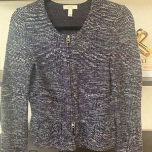 J. Crew Tweed Peplum Blazer Jacket XS